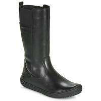 Shoes Girl Boots Geox J HADRIEL GIRL Black