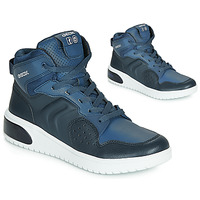 Shoes Boy High top trainers Geox J XLED BOY Blue / Led