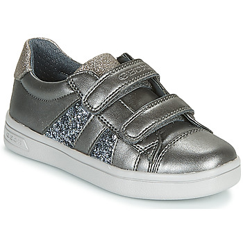 Shoes Girl Low top trainers Geox J DJROCK GIRL Grey