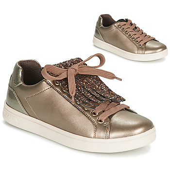 Shoes Girl Low top trainers Geox J DJROCK GIRL Coppery / Pink
