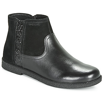 Shoes Girl Mid boots Geox J SHAWNTEL Black