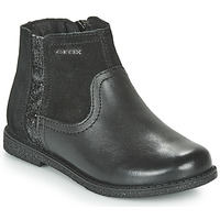 Shoes Girl Mid boots Geox J SHAWNTEL Black
