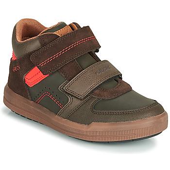 Shoes Boy High top trainers Geox J ARZACH BOY Brown / Orange