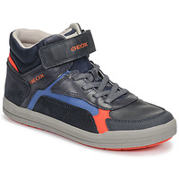 Shoes Boy High top trainers Geox J ARZACH BOY Blue / Orange