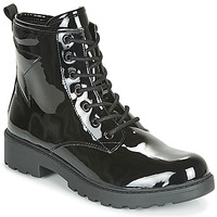 Shoes Girl Mid boots Geox J CASEY GIRL Black