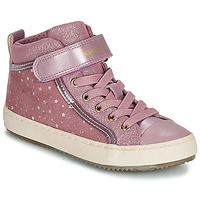 Shoes Girl Low top trainers Geox J KALISPERA GIRL Pink