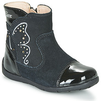 Shoes Girl Boots Geox B KAYTAN Black