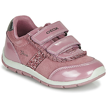 Shoes Girl Low top trainers Geox B SHAAX Pink
