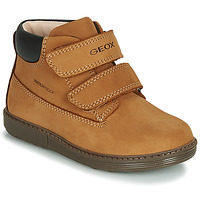 Shoes Boy High top trainers Geox B HYNDE BOY WPF Brown