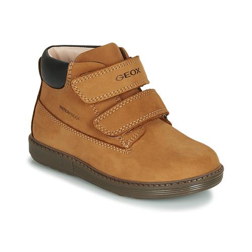 Shoes Boy High top trainers Geox B HYNDE BOY WPF Brown