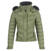 material Women Duffel coats Superdry FUJI SLIM 3 IN 1 JACKET Kaki