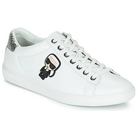 Shoes Women Low top trainers Karl Lagerfeld KUPSOLE II KARL IKONIC LO LACE White / Silver