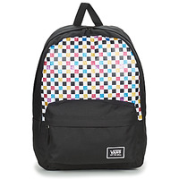 Bags Women Rucksacks Vans GLITTER CHECK REALM Black / Multicolour