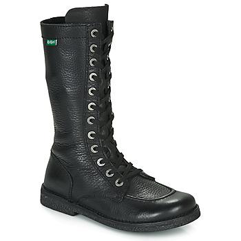 Shoes Women Boots Kickers MEETKIKNEW Black