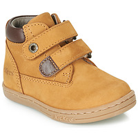 Shoes Boy Mid boots Kickers TACKEASY Camel / Brown