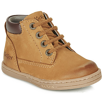 Shoes Boy Mid boots Kickers TACKLAND Camel / Brown