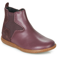 Shoes Girl Mid boots Kickers VERMILLON Violet
