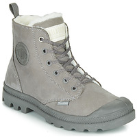 Shoes Women Mid boots Palladium PAMPA HI ZIP WL Grey