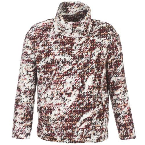 material Women coats See U Soon POTNO Brown / Beige