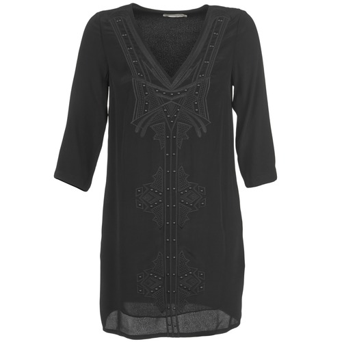 material Women Short Dresses See U Soon CASOU Black