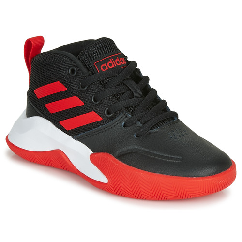 Shoes Boy Basketball shoes adidas Performance OWNTHEGAME K WIDE Black / Red