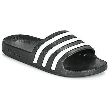Shoes Tap-dancing adidas Performance ADILETTE AQUA Black / White