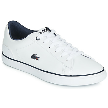 Shoes Boy Low top trainers Lacoste LEROND BL 2 CUJ White / Marine