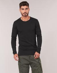 material Men Long sleeved shirts G-Star Raw BASE TEE Black