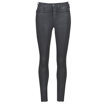 material Women Skinny jeans G-Star Raw ASHTIX ZIP HIGH SUPER SKINNY ANKLE WMN Black