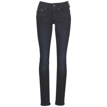 material Women straight jeans G-Star Raw MIDGE MID STRAIGHT WMN Blue / Dark / Aged