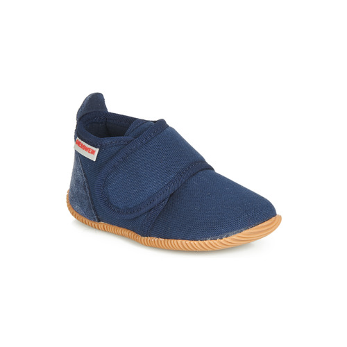Shoes Boy Slippers Giesswein STRASS SLIM FIT Marine