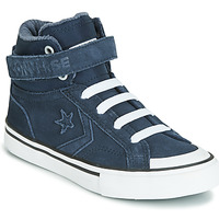 Shoes Children High top trainers Converse PRO BLAZE STRAP SPACE RIDE SUEDE HI Blue