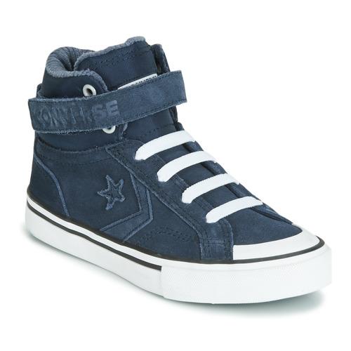 Shoes Children High top trainers Converse PRO BLAZE STRAP SPACE RIDE SUEDE HI Blue