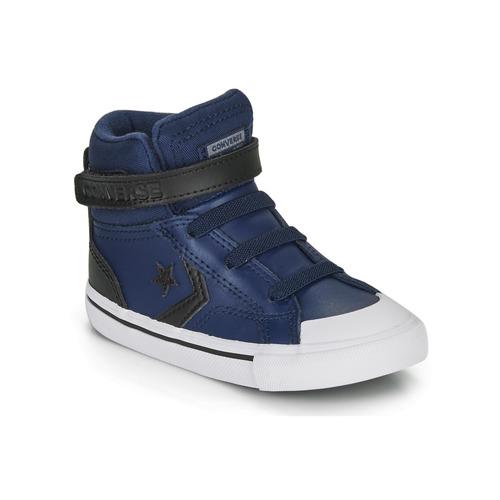 Shoes Children High top trainers Converse PRO BLAZE STRAP MARTIAN LEATHER HI Blue / Black
