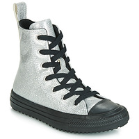 Shoes Girl High top trainers Converse CHUCK TAYLOR ALL STAR BOOT COATED GLITTER  HI Silver