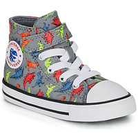 Shoes Boy High top trainers Converse CHUCK TAYLOR ALL STAR 1V DINOVERSE HI Grey
