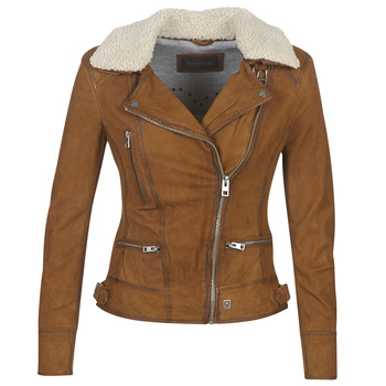material Women Leather jackets / Imitation leather Oakwood PROJECTION Brown