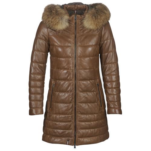 material Women Duffel coats Oakwood MARY Cognac
