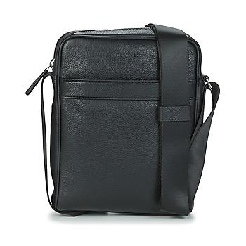 Bags Men Pouches / Clutches Le Tanneur CHARLES REPORTER MEDIUM Black