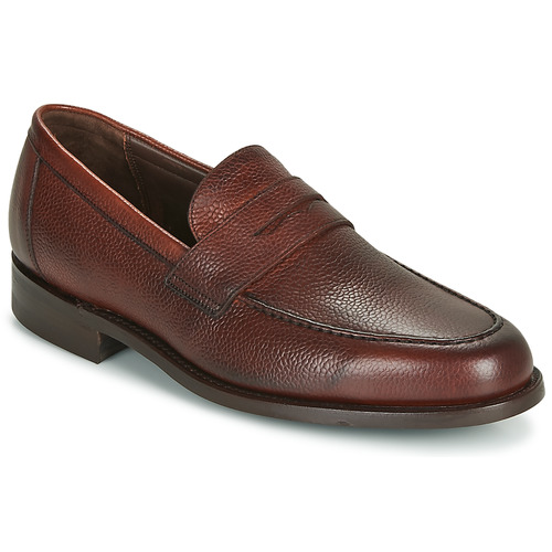 Shoes Men Loafers Barker JEVINGTON Bordeaux