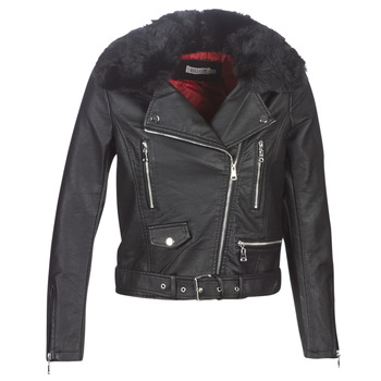 material Women Leather jackets / Imitation leather Molly Bracken HA006A21 Black
