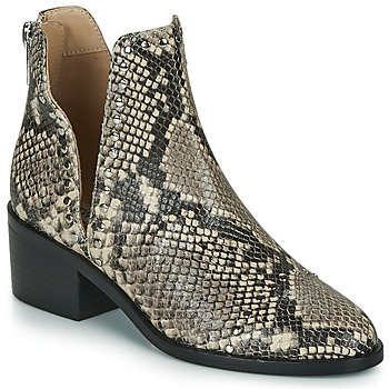 Shoes Women Mid boots Steve Madden CONSPIRE Beige / Python
