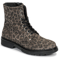 Shoes Girl Mid boots Bullboxer AHC501E6CEGRGRK Leopard