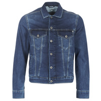 material Men Denim jackets Pepe jeans PINNER Grey