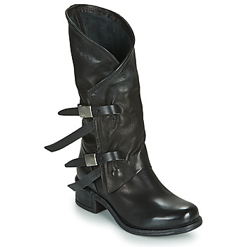 Shoes Women Boots Airstep / A.S.98 ISPERIA BUCKLE Black