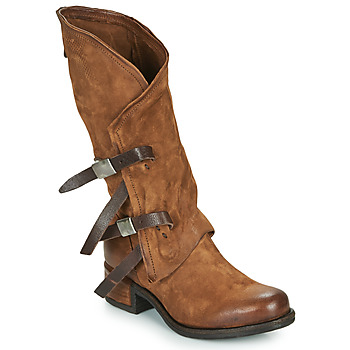 Shoes Women Boots Airstep / A.S.98 ISPERIA BUCKLE Brown