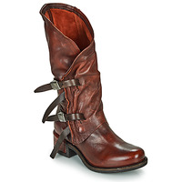 Shoes Women Boots Airstep / A.S.98 ISPERIA BUCKLE Red