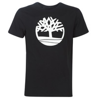 material Men short-sleeved t-shirts Timberland SS Brand Reg Tee BLACK Black