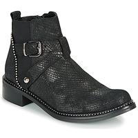 Shoes Women Mid boots Regard ROALA V1 CROSTE SERPENTE PRETO Black