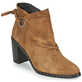 Shoes Women Ankle boots Philippe Morvan BATTLES V3 CHEV VEL Camel